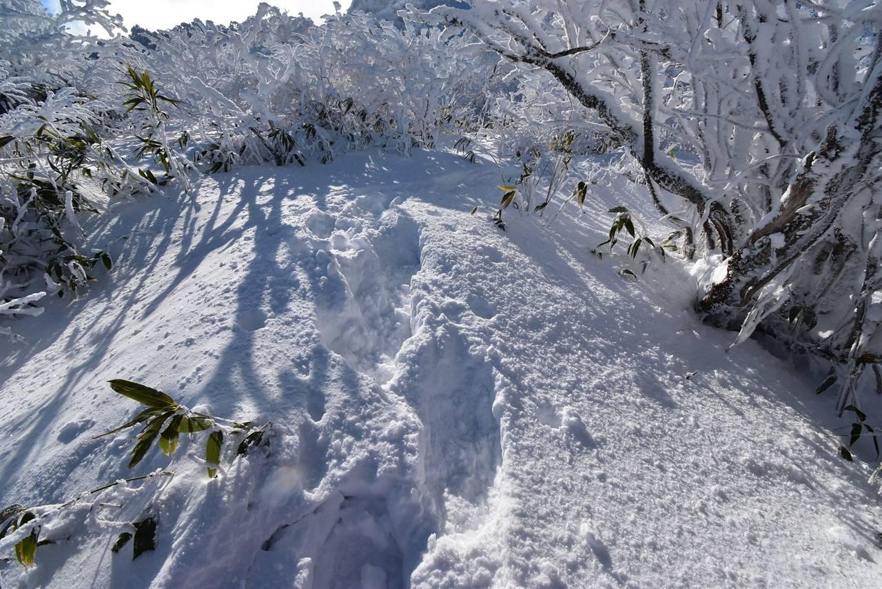 磐梯山 ラッセル登山