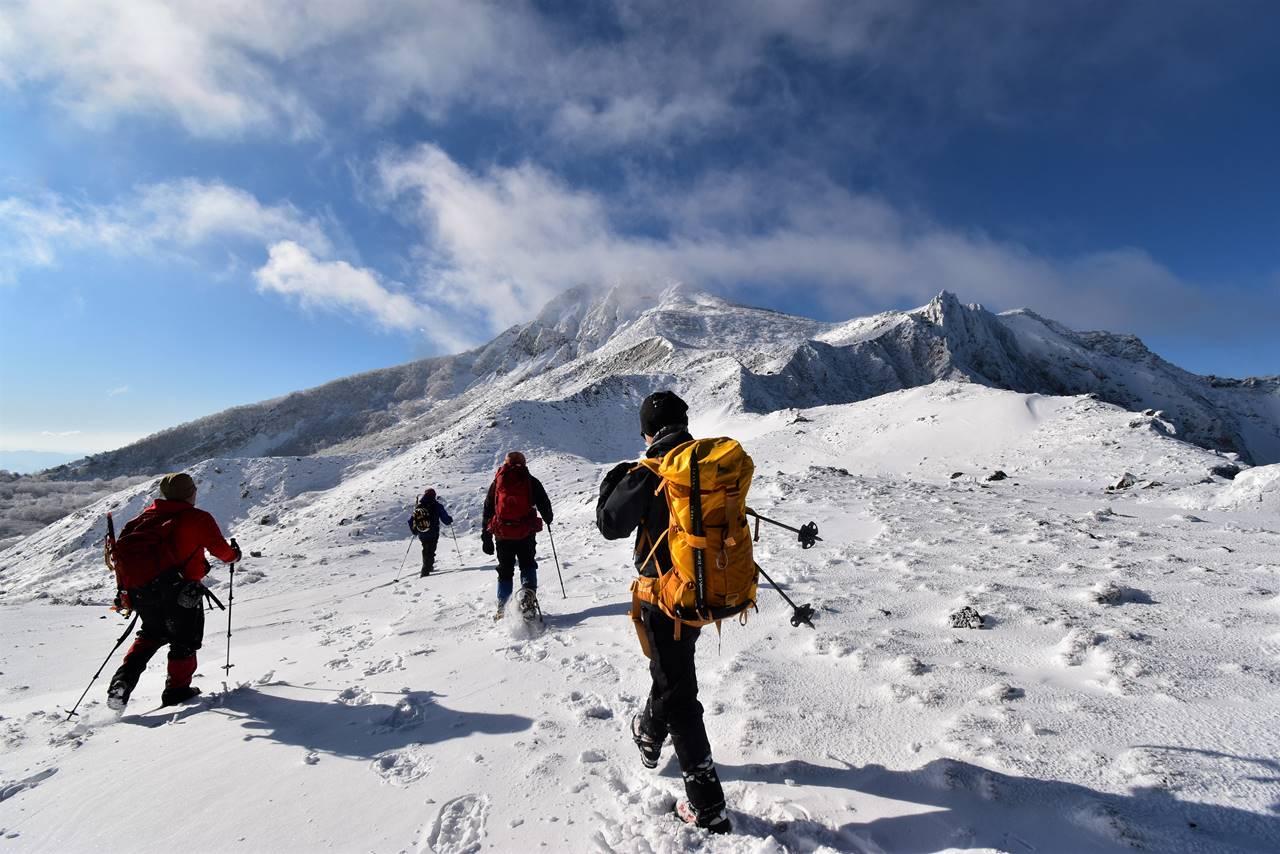 冬の磐梯山 雪山登山