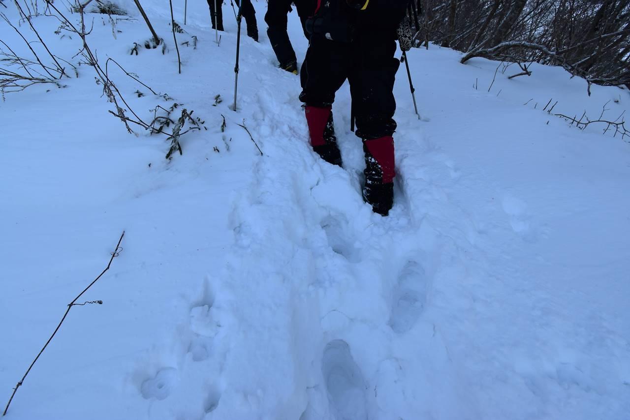 冬の磐梯山 ラッセル登山