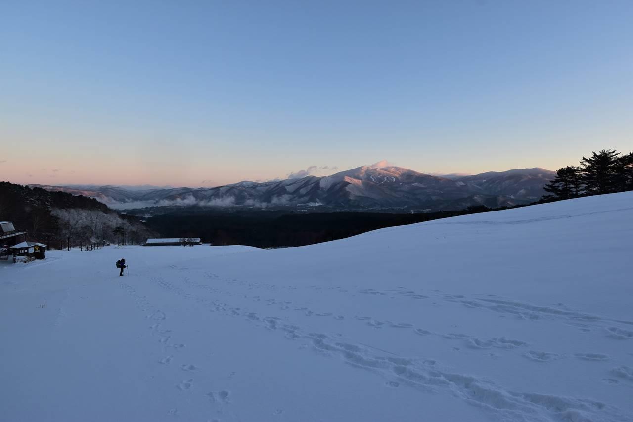 裏磐梯スキー場から眺める西吾妻山