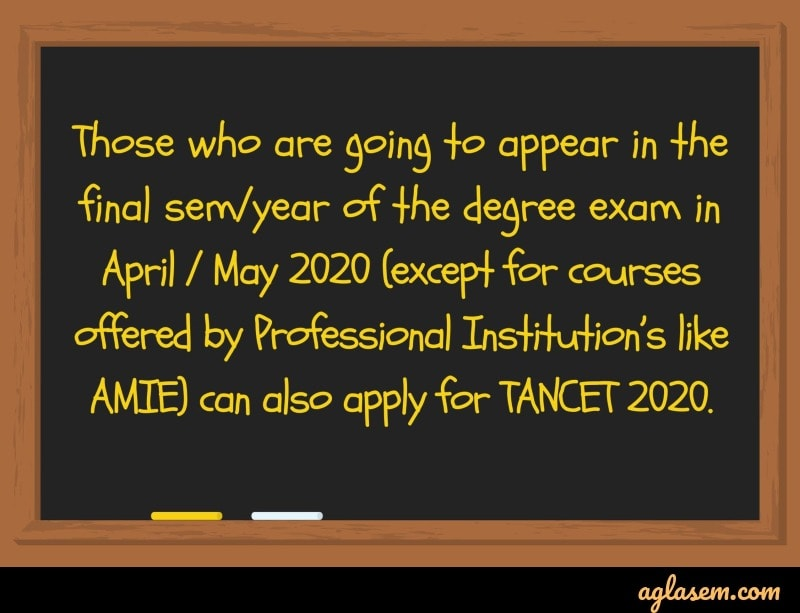 TANCET 2020 – Mark Sheet (Released), Result, Counselling