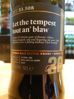 SMWS 53.308 - Let the tempest tout an' blaw