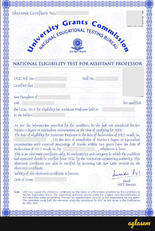 UGC NET Certificate