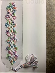 Tatted Bookmark for Christmas envelope exchange.