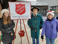 Rep. Zawistowski bell ringing with Suffield Rotary, 90% proceeds to Suffield Community Aid