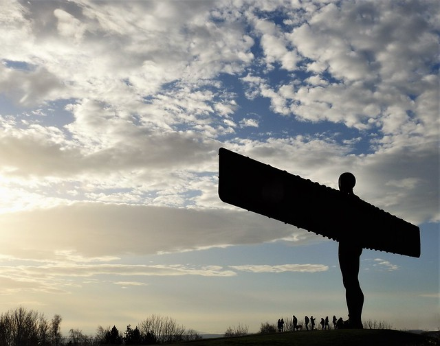 Angel of the North - Silhouettes and Cloudscape