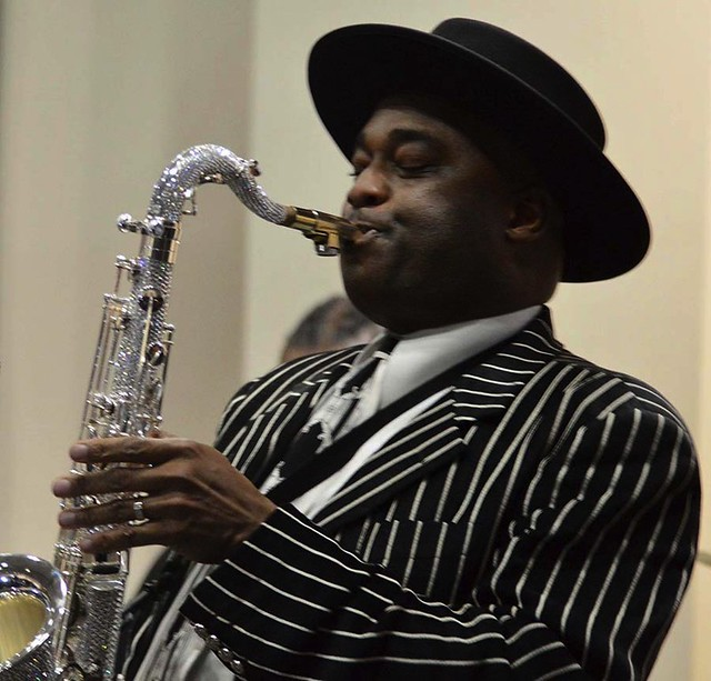 The Great saxophonist, James Carter, performing at 2019 Birthday Celebration, (b) January 3, 1969.