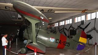 Polikarpov I-15 replica in Madrid