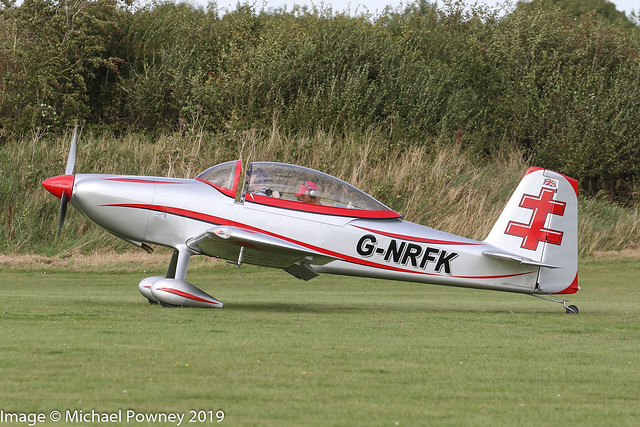 G-NRFK - 2013 build Vans RV-8, taxiing for departure at Sywell during the 2019 LAA Rally