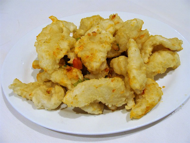 Pan Fried Fresh Squid with Pepper
