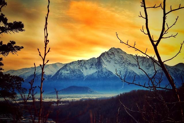 Pioneer Peak on Winter's Solstice
