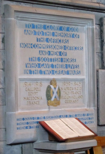 Scottish Horse Memorial, Dunkeld Cathedral