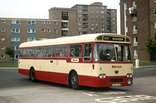 Birch Bros . London , NW5 . K70 DUC70C . Bedford Bus Station , Bedfordshire . Friday 05th-September-1969 .