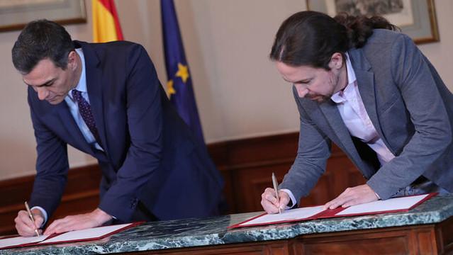 Pedro y Pablo Firma de Acuerdo