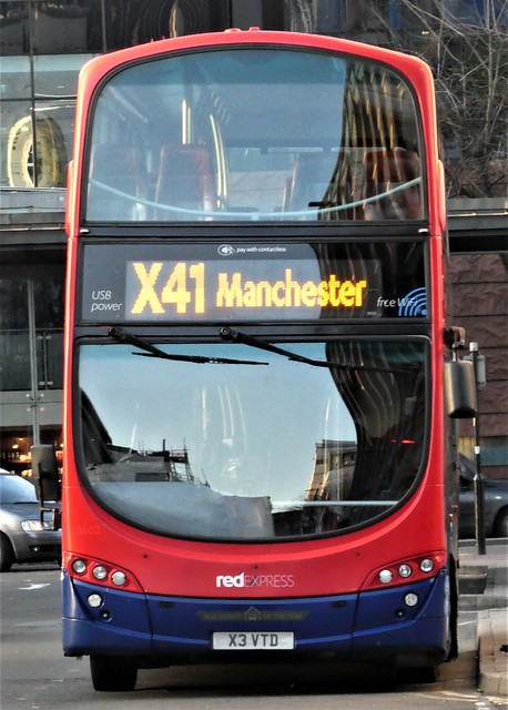 """X41 ACCRINGTON TO MANCHESTER == USB POWER......FREE WIFI.....""""BUS DEPOT OF THE YEAR"""""""