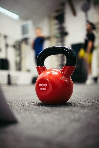 Red kettlebells weighing 16 kilograms | by shixart1985