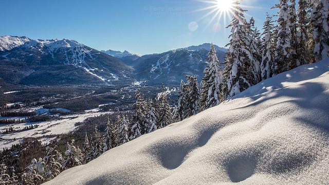 Sunny View of Whistler Blackcomb Mountains