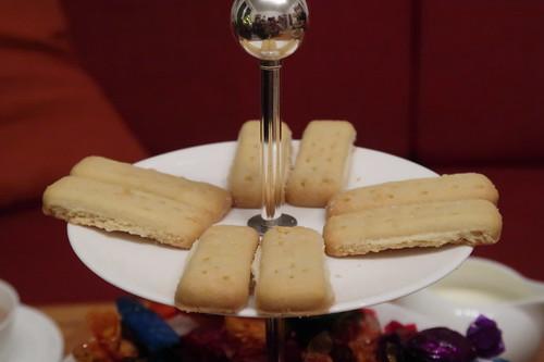 Etageren-Ebene mit Butter Shortbread Fingers