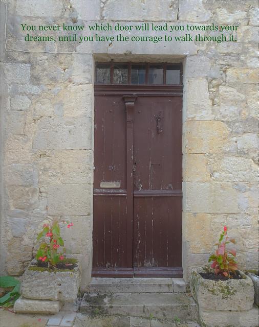 A simple wood door in France