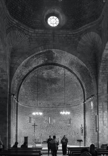 Duet de veus al Monestir de Sant Pau del Camp, Barcelona. S. XI. Art Romànic.