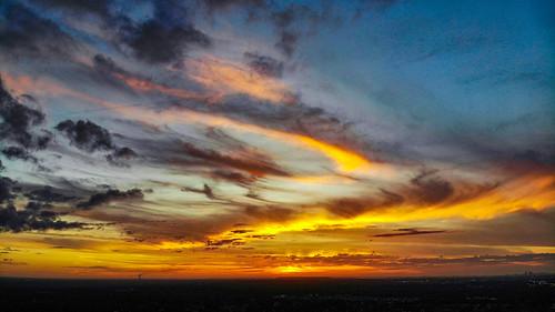 landscapephotography dronephotography skies sky cloudporn sunrise usa unitedstatesofamerica unitedstates colors colorful storms storm cloud florida tampabay drone uav valrico mavicair dji clouds sun sunset