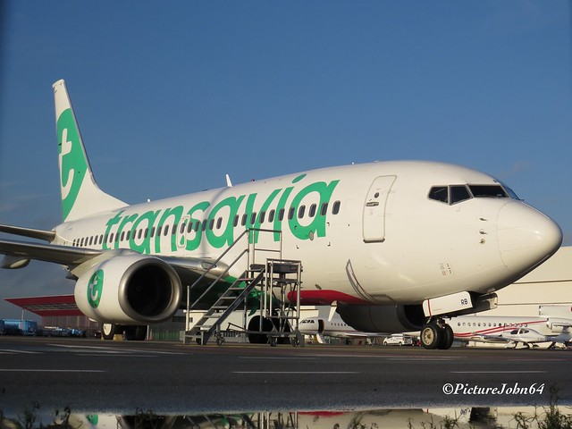 Transavia Boeing 737 (PH-XRB) at Schiphol East