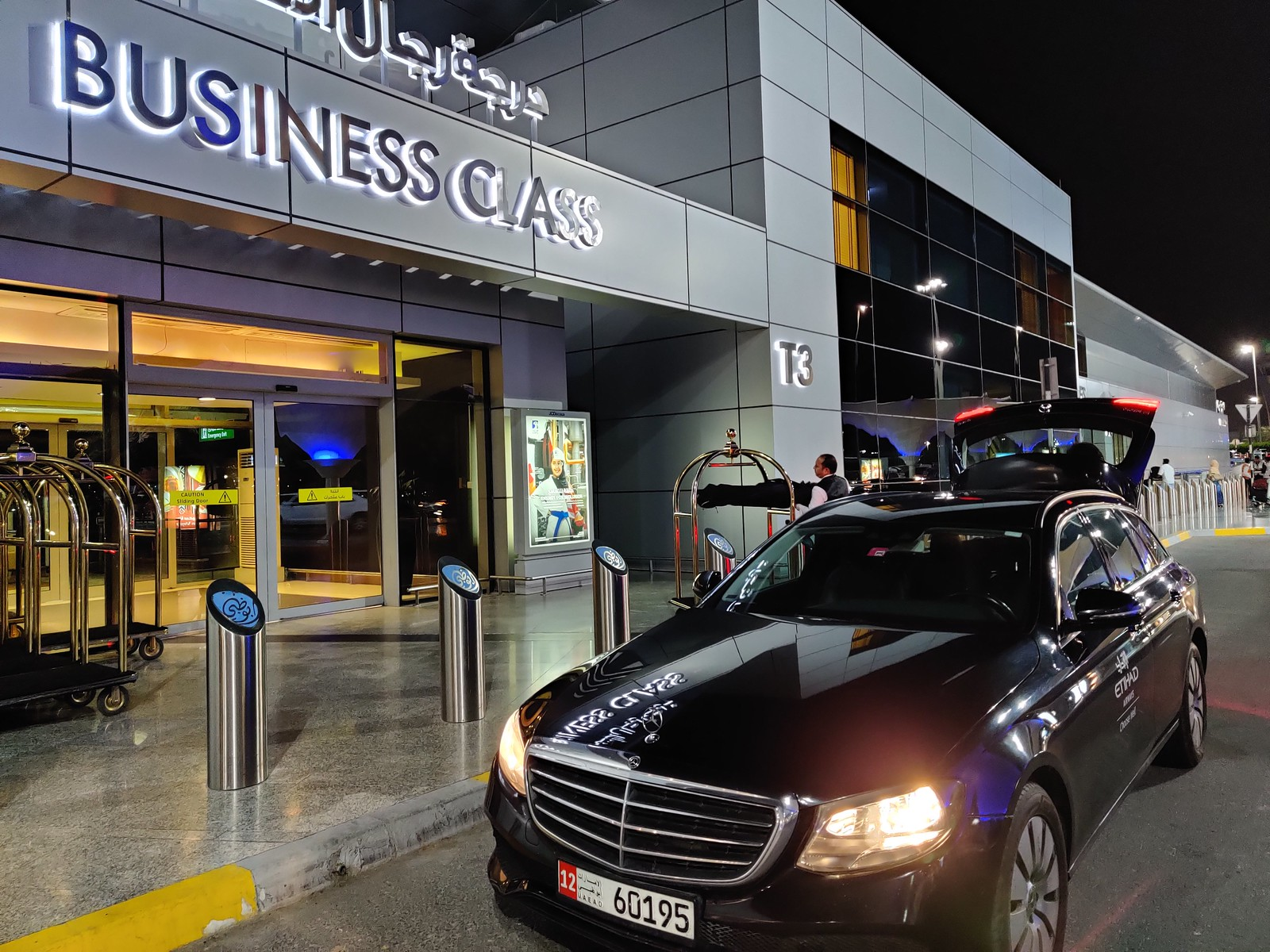 Etihad chauffeur service for Business Class