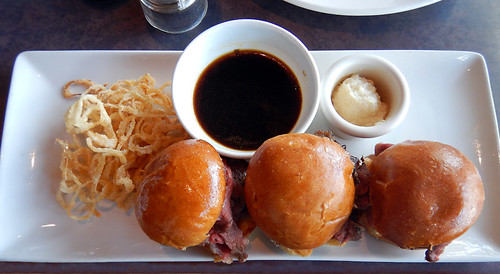 Continuing on with my research into walks around the city, and lots of people were willing to assist in my research, especially if there was a Happy Hour at the end of it such as these yummy prime rib sliders at the Keg