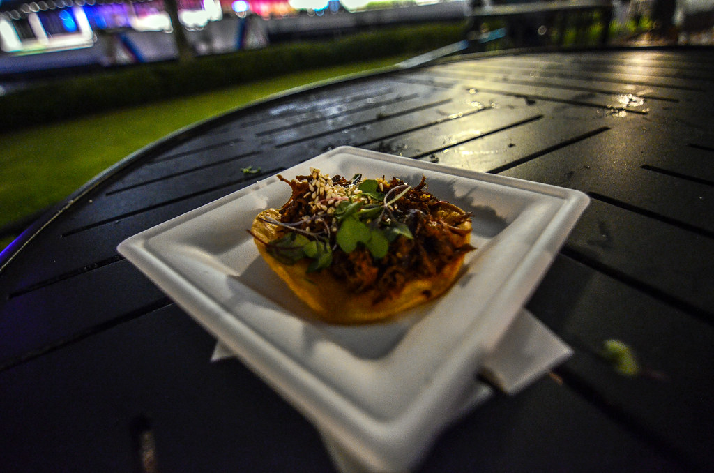 Epcot Food & Wine tostada