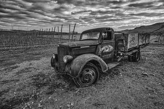 Deteriorating Dodge (B&W)