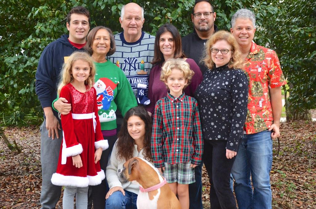 Family Photo On Christmas