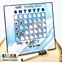 DIY Undated Dry Erased Calendar