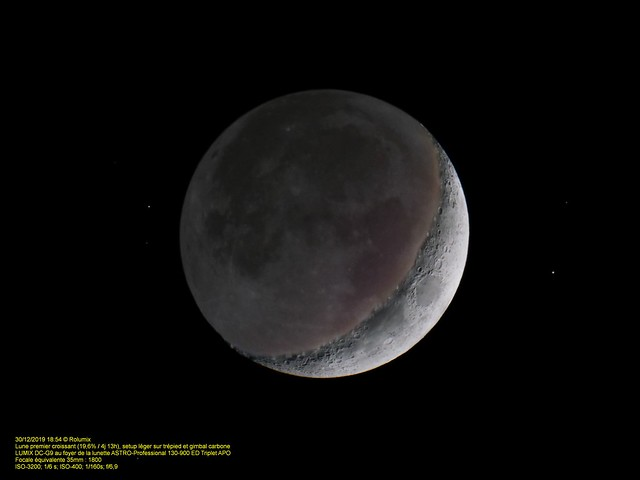 Vaureal-2019 / Premier croissant - Dark side of the Moon