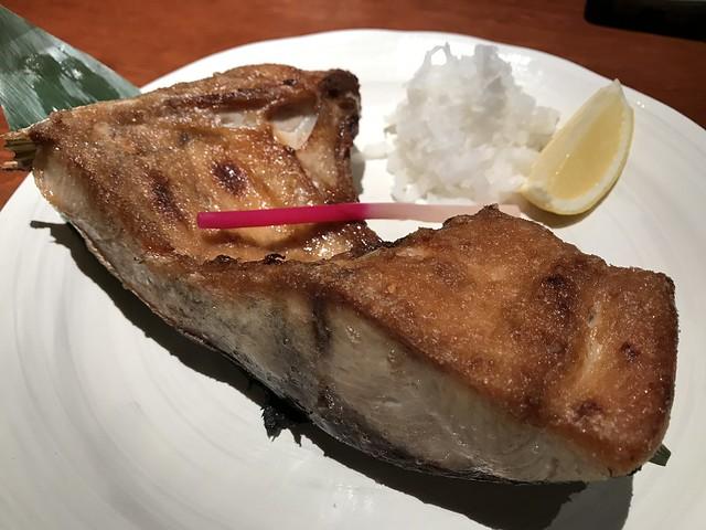 Grilled yellowtail collar @Eboshi Restaurant, Ebina, Japan