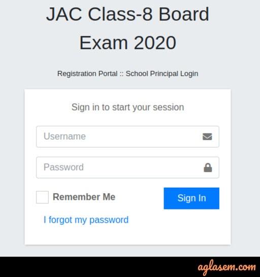 JAC 8th Admit Card 2020