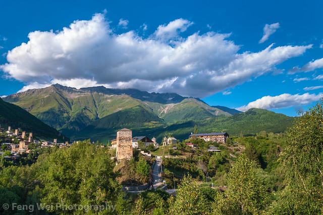 Summer Scenery In Caucasus Mountains, Mestia, Svaneti Region, Georgia