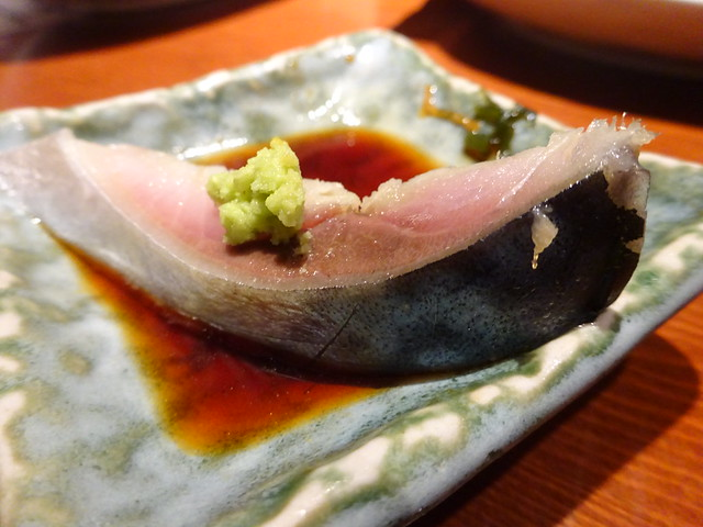 Mackerel sashimi @Eboshi Restaurant, Ebina, Japan