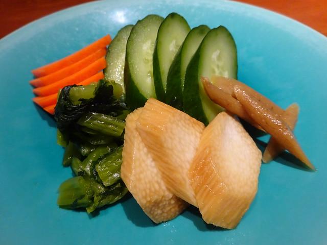 Japanese pickles @Eboshi Restaurant, Ebina, Japan