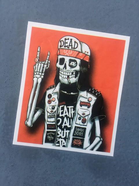 Dead Skelton Sticker Cambridge Dec 2019