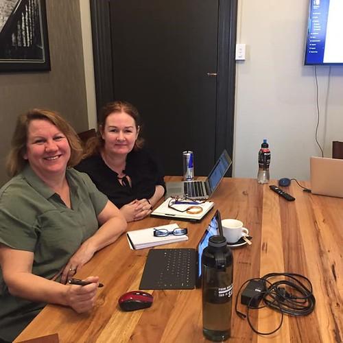 Janet and Lisa at workshop