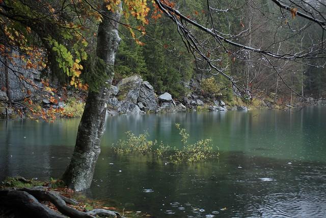 Lac Vert un jour de pluie