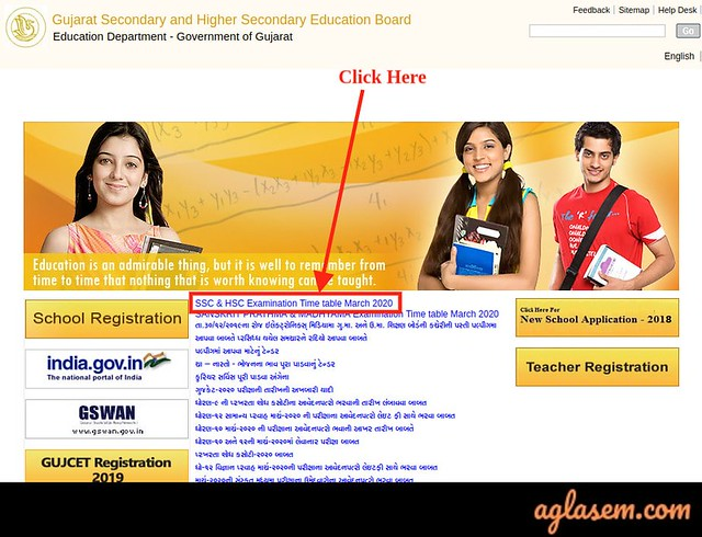 GSEB 12th Time Table 2020 (Released) | GSEB HSC Time Table 2020
