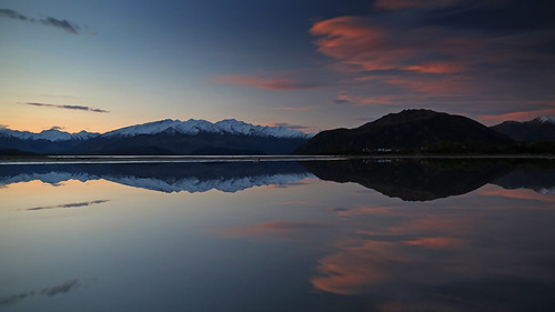 landscape otago lakewanaka wanaka bremnerbay lake mountain mountains reflection sunset