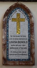 Louisa Bignold mosaic, 1893