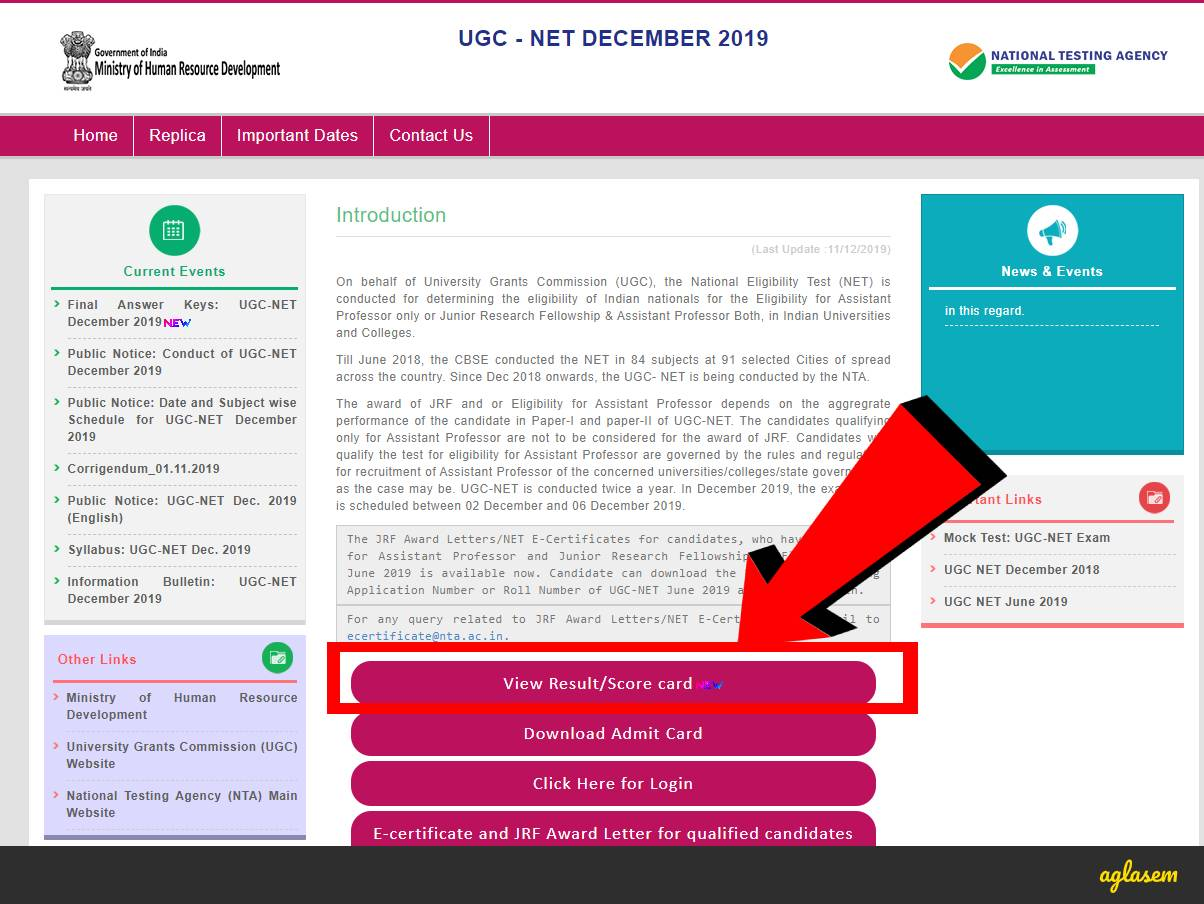 How To Check UGC NET Result 2019 at ugcnet.nta.nic.in?