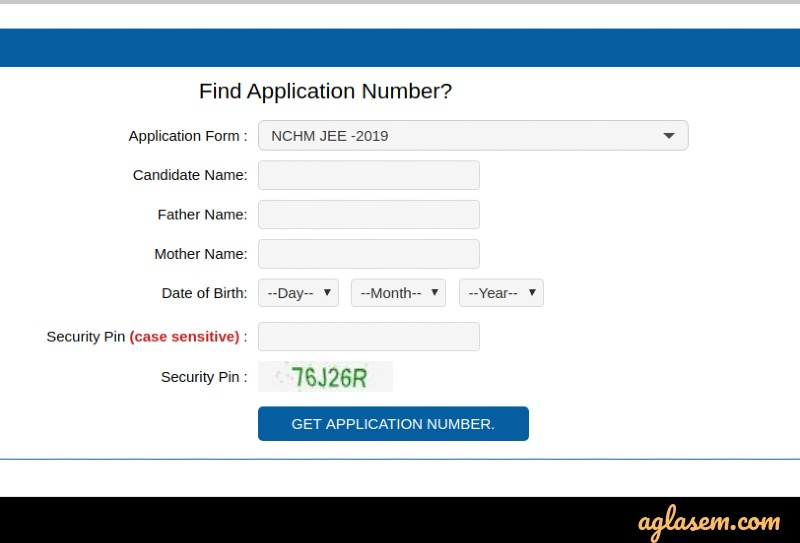 NCMCT JEE 2020 application number