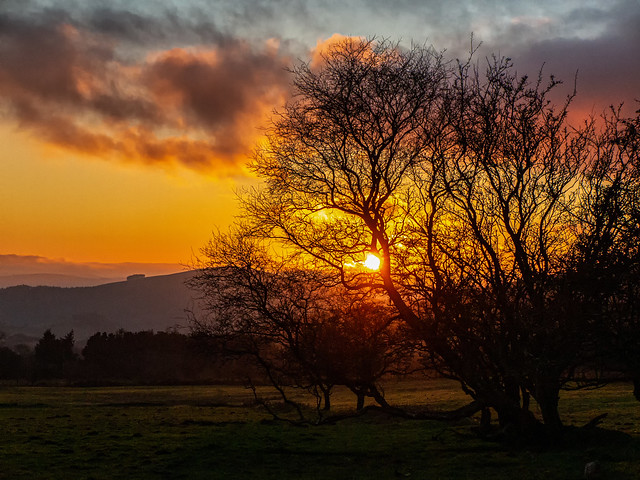 Sunset at The Stiperstones