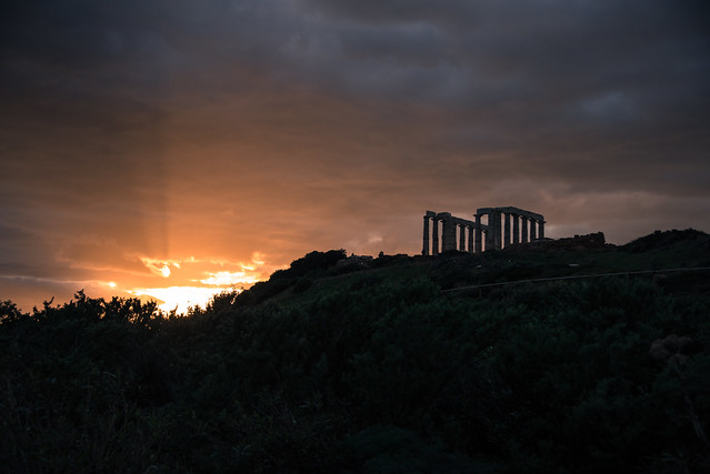 Cape Sounion the Temple - Happy New Year