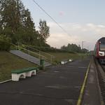 Dīzeļvilciens DR1AC izbraucot no Vaboles dzelzceļa stacijas, 03.08.2018.