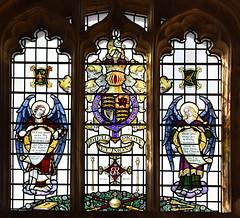 Elizabeth II royal arms and angels (Alfred Wilkinson, 1953)